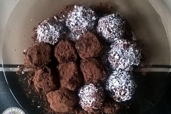 Вкусные сыроедческие шоколадные конфеты ручной работы