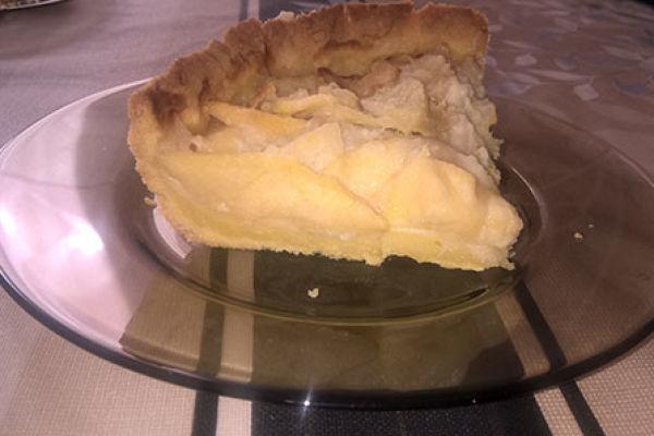 Нежный цветаевский пирог с яблоками без сахара