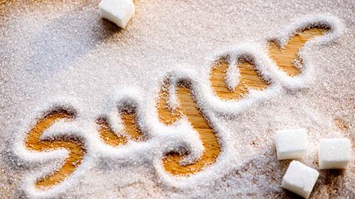 Надпись-сахар