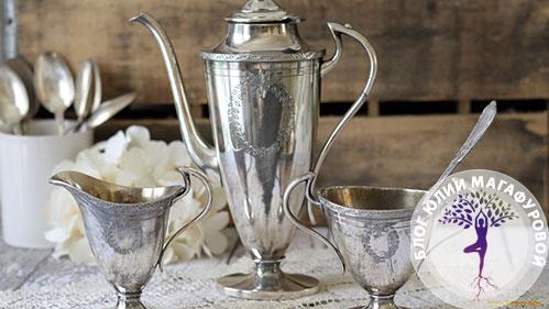 Серебрянная посуда