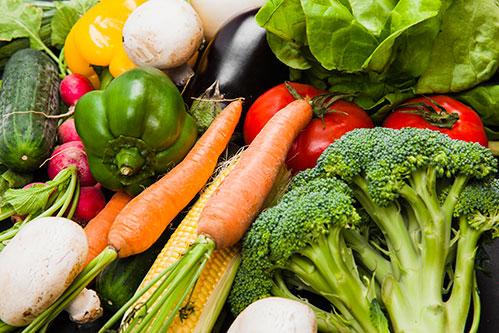Овощи разные свежие