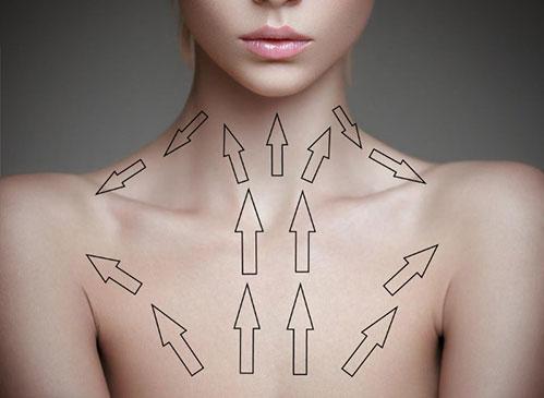 Массажные линии шеи и декольте