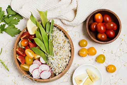 Здоровая еда с проростками