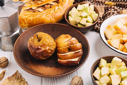 Запеченные яблоки с мёдом