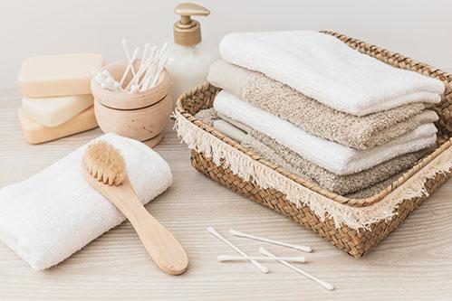 Хлопковые полотенца и принадлежности для ванны