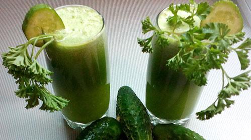 Зелёный сок домашний