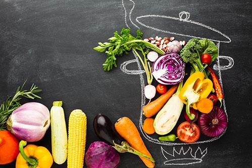 Кувшин с овощами